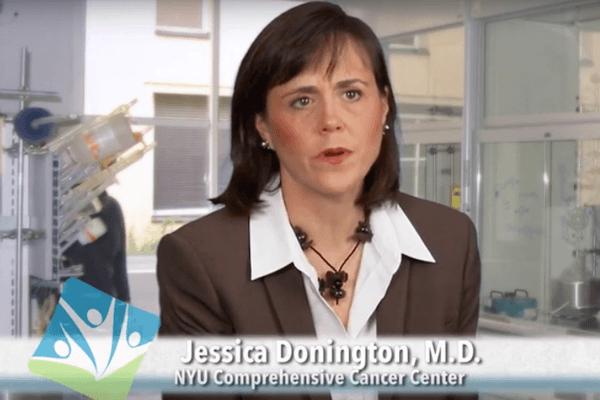 Dr Jessica Donington clinical trials video