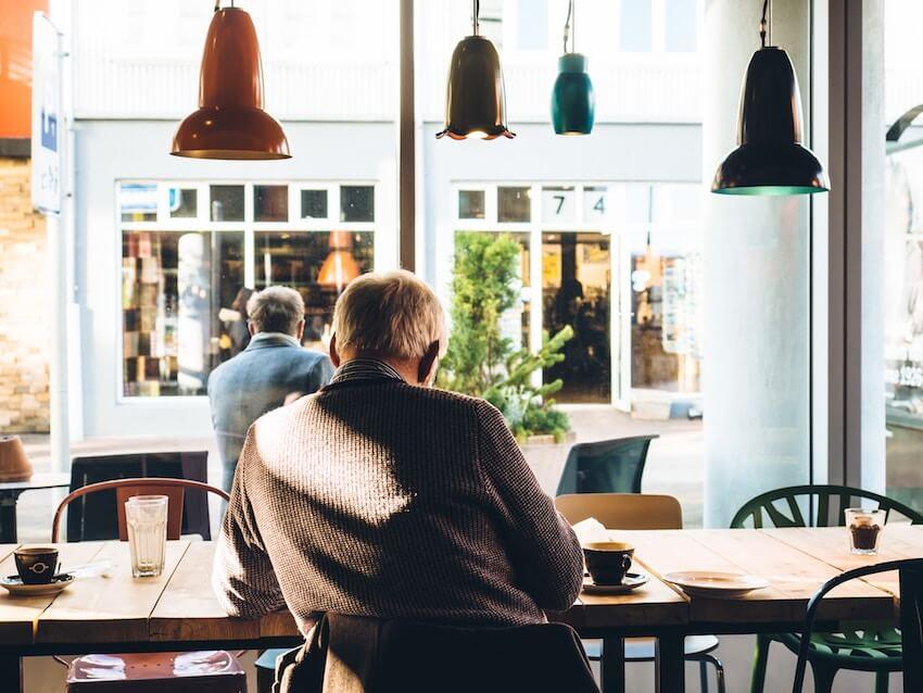 man at cafe