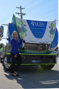 April with LCFA wrapped truck