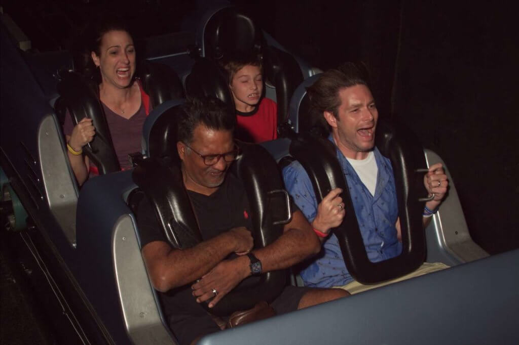 Laura enjoying the ride at Disney World