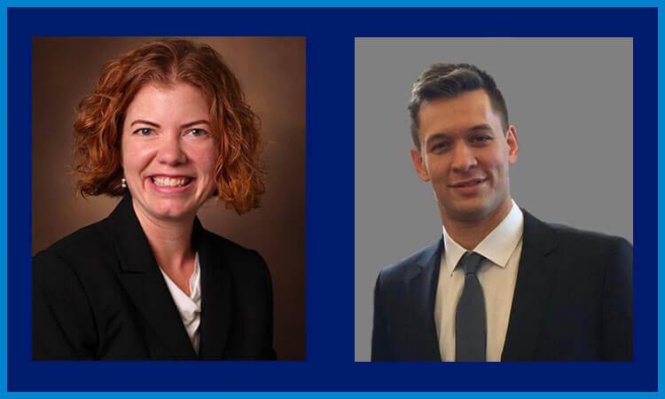 Kathryn Beckerman and Zoltan Lohinai, LCFA-IASLC-BMS grant recipients