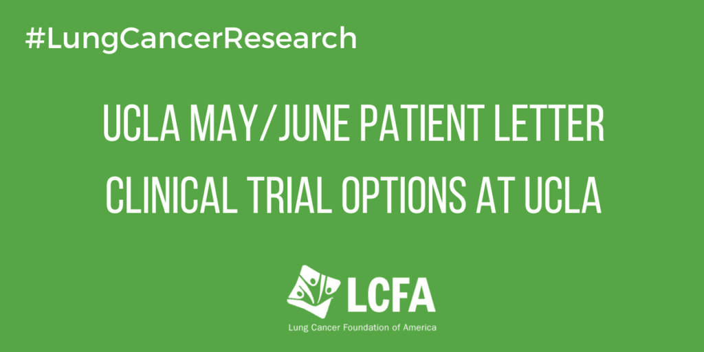 UCLA Clinical Trials - May and June, 2018