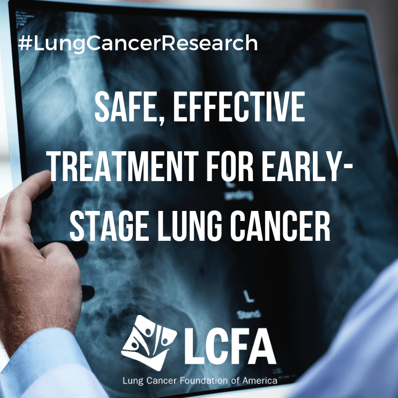 Safe, effective treatment for early-stage lung cancer