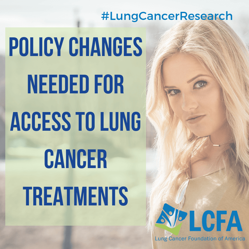 Policy changes needed for access to lung cancer research.