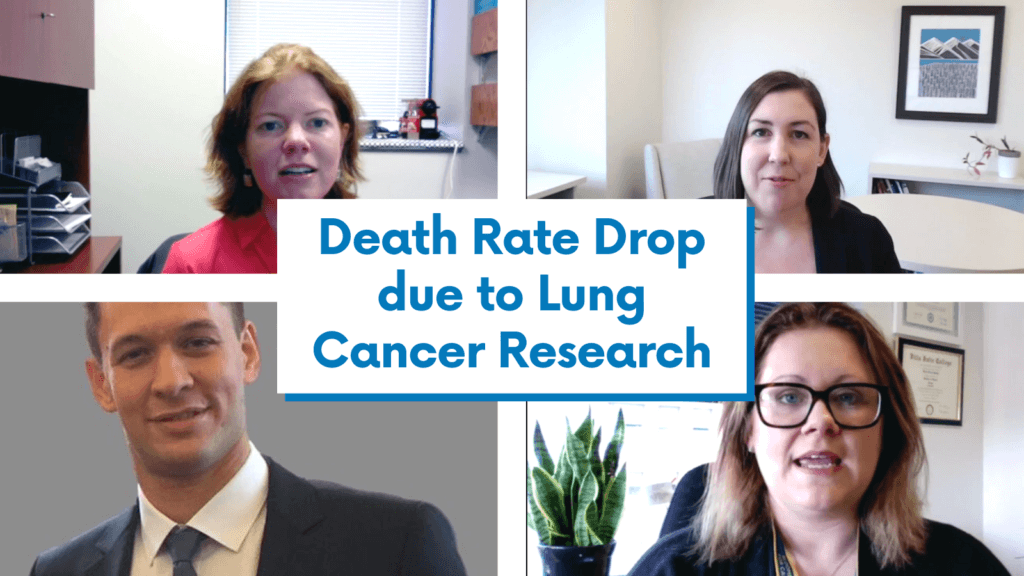 Cancer death rate drop due to lung cancer research advances