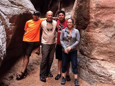 Karen Cunningham and her family