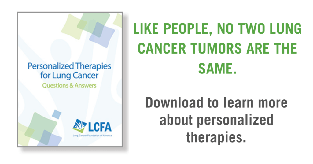 Personalized Therapies for Lung Cancer brochure