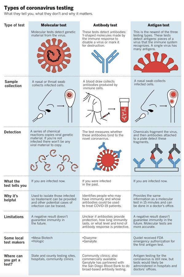 Types of coronavirus testing