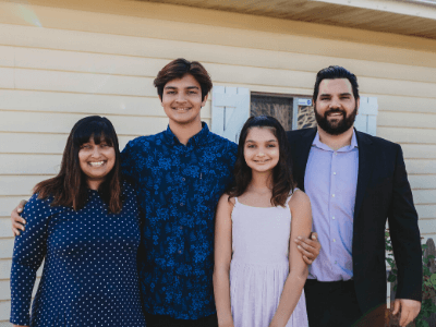 Tabitha Paccione and her family