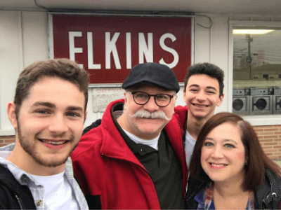 Ivy Elkins and her family traveling