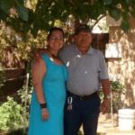 Yovana Portillo con su padre