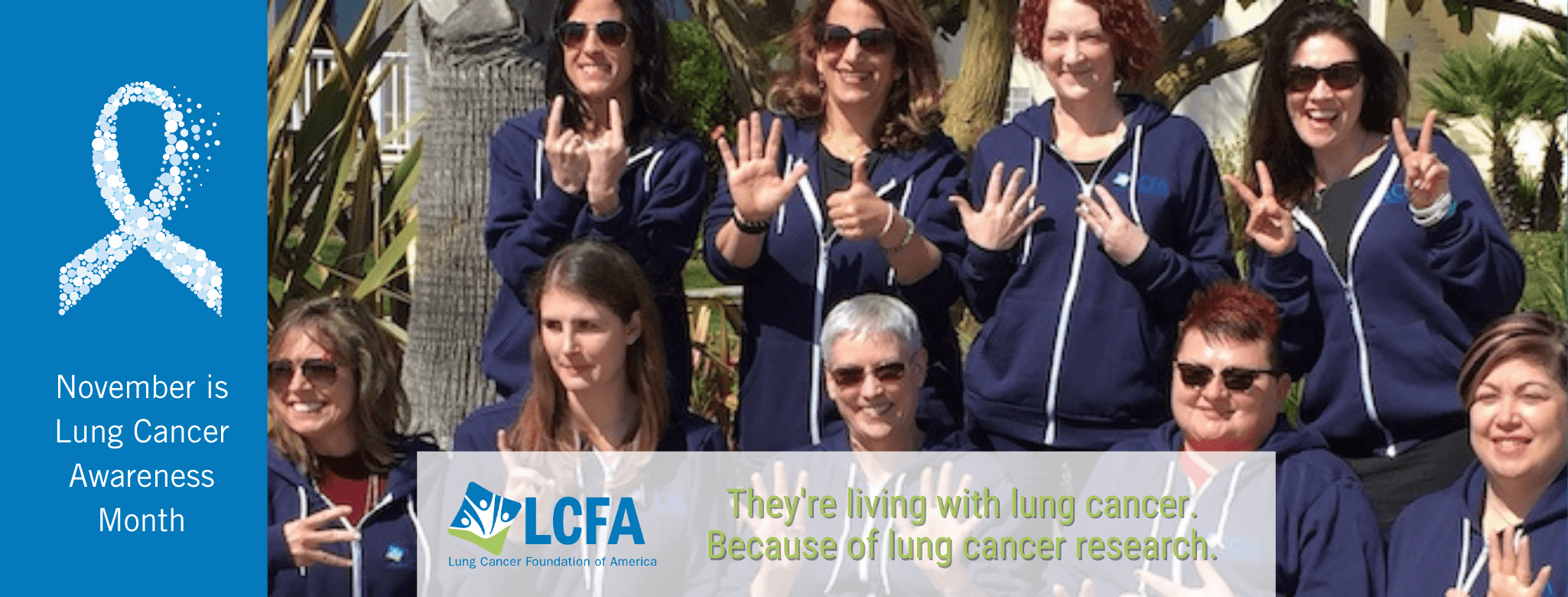 Photo of LCFA speakers bureau who are living with lung cancer.