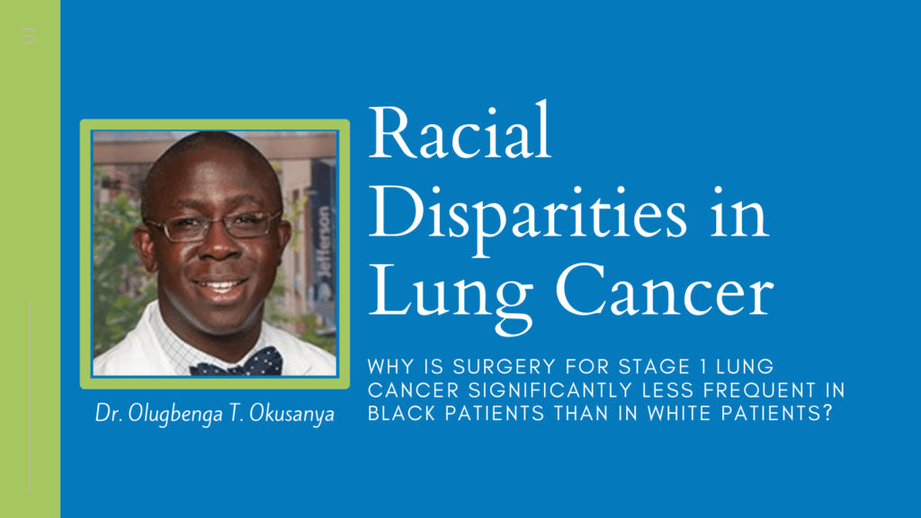 Racial disparities in lung cancer treatments