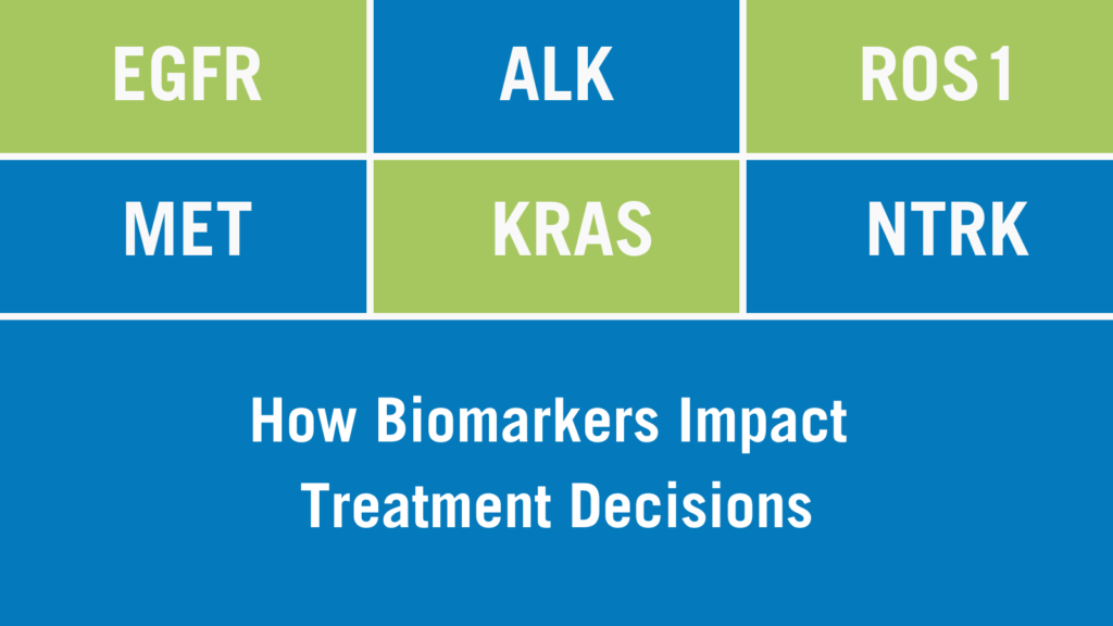 How biomarkers impact treatment decisions.