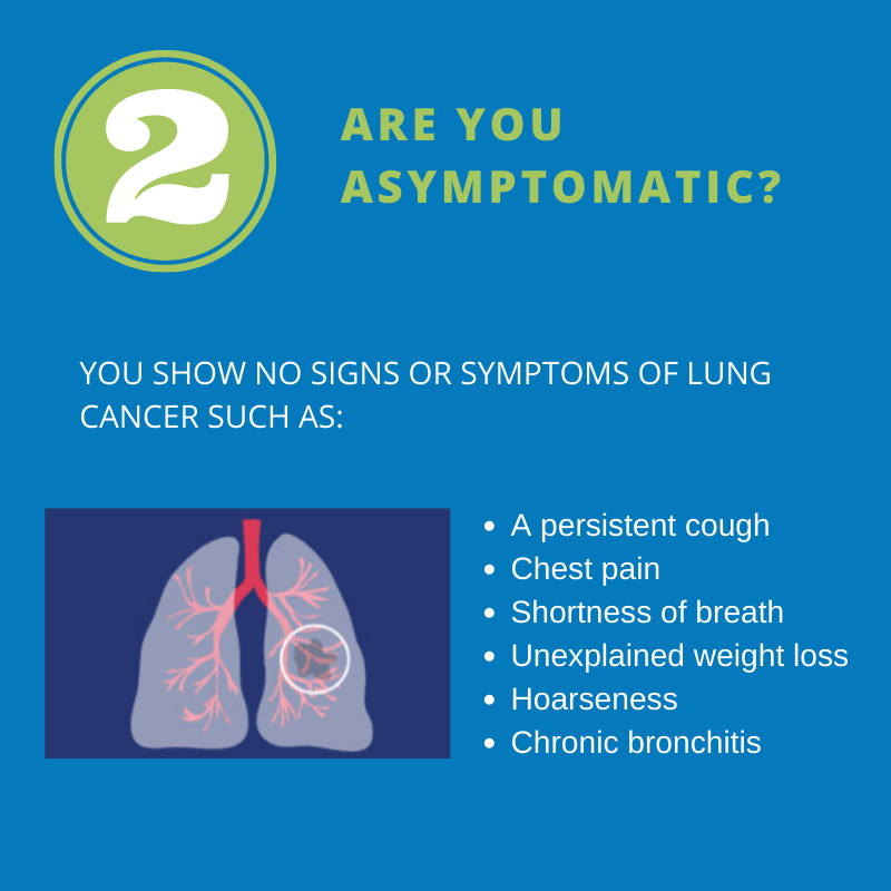 Criteria 2: Are you asymptomatic?