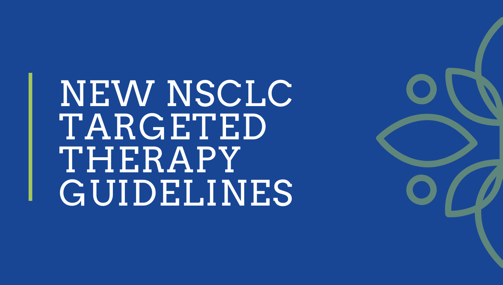 New NSCLC Targeted Therapy Guidelines published