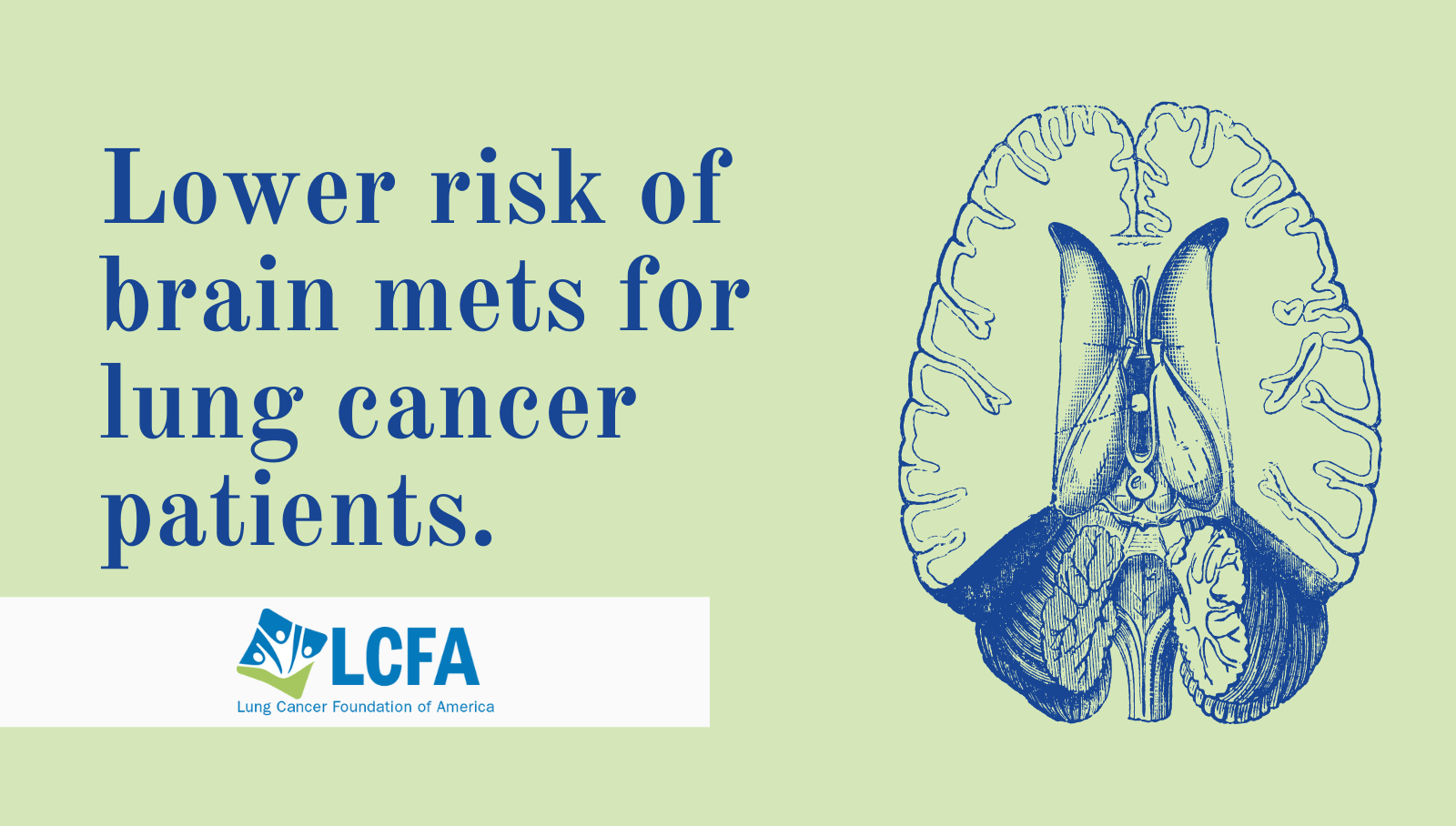 lower risk of brain mets for lung cancer patients